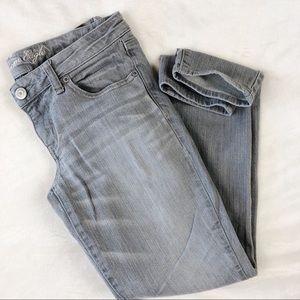 American Eagle Super Skinny Stretch Grey Jeans 8